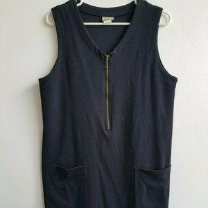 Vintage LL Bean Black Jumper Pocket Dress Size Med